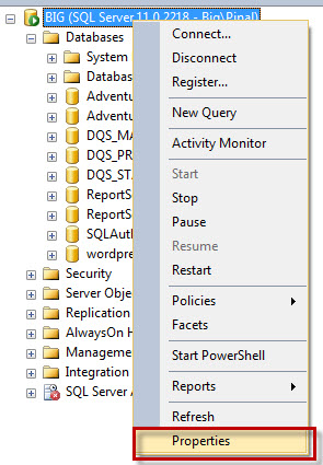 SQL SERVER - Changing Default Installation Path for SQL Server servprop1