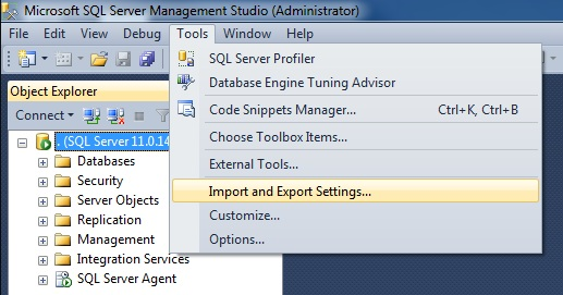 SQL SERVER - SSMS 2012 Reset Keyboard Shortcuts to Default setkeyboard