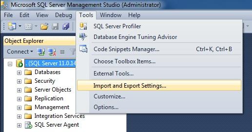 SQL SERVER - SSMS 2012 Reset Keyboard Shortcuts to Default setkeyboard