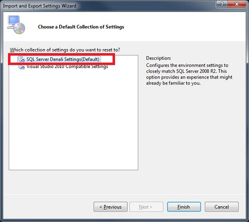 SQL SERVER - SSMS 2012 Reset Keyboard Shortcuts to Default setkeyboard3