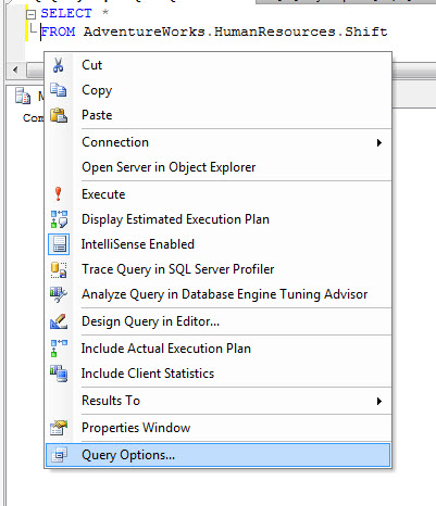 SQL SERVER - SSMS Query Command(s) completed successfully without ANY Results setparseonly2