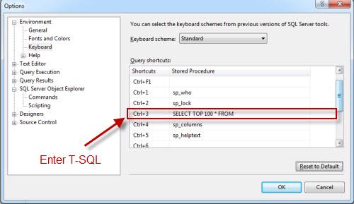 SQL SERVER - SELECT TOP Shortcut in SQL Server Management Studio (SSMS) shortcut2