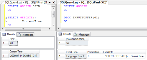 SQL SERVER - Get Last Running Query Based on SPID spid1