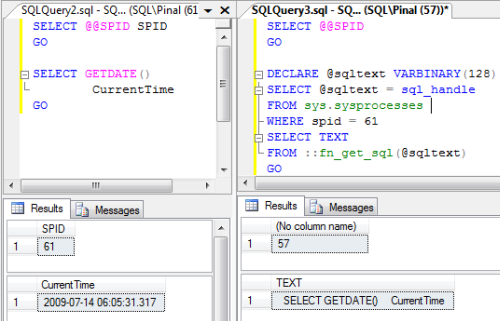 SQL SERVER - Get Last Running Query Based on SPID spid3