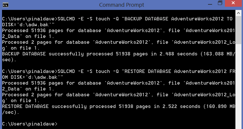 SQL SERVER - Backup and Restore Database Using Command Prompt - SQLCMD sqlcmd-backup-restore