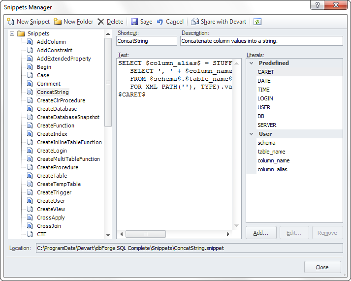 SQL SERVER - Writing SQL Queries Made Easy with dbForget SQL Complete ii05