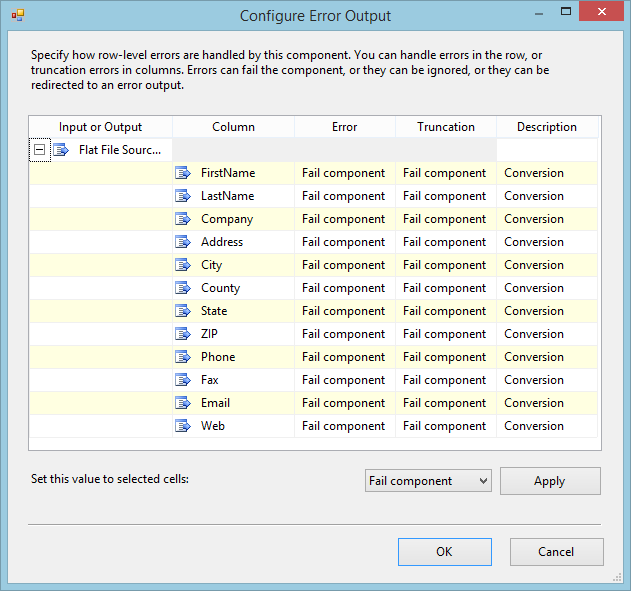SQL SERVER - SSIS Component Error Outputs - Notes from the Field #034 ssis34-2