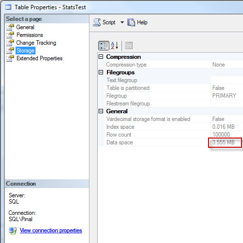 SQL SERVER - Update Statistics are Sampled By Default statsupdate4