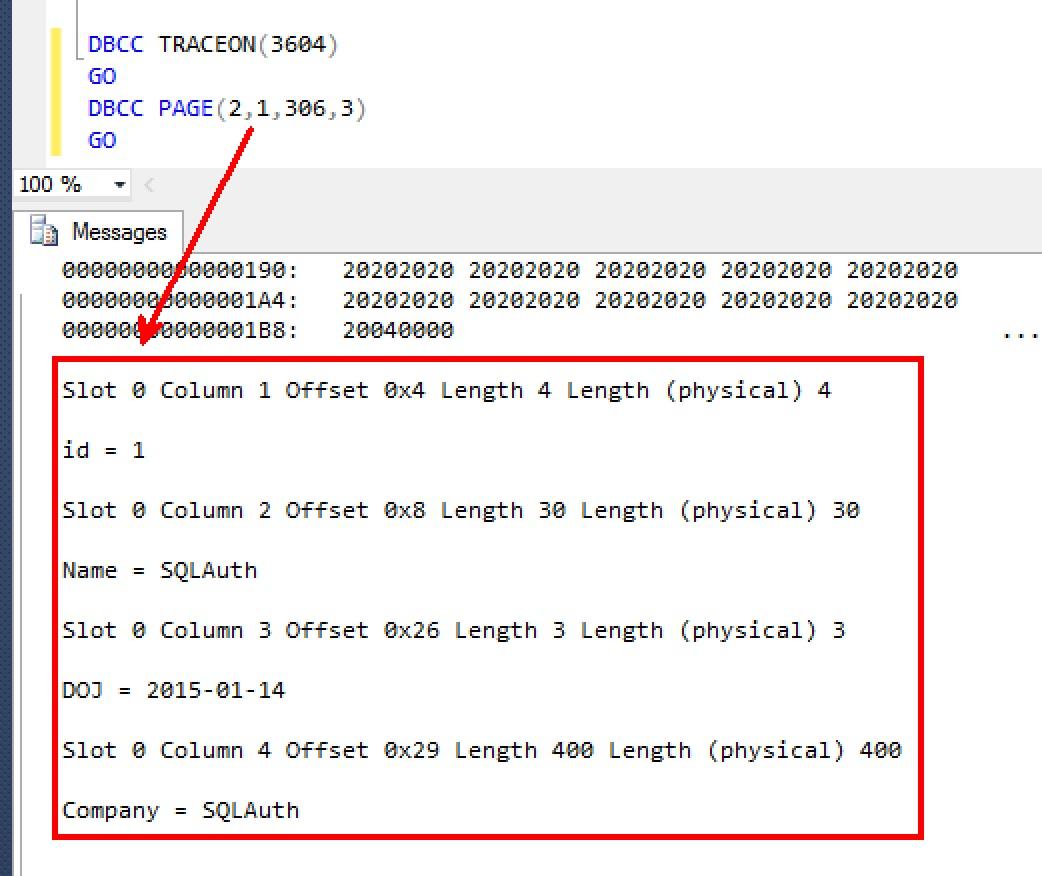 Sql server watching table variable data in tempdb for Table variable in sql server