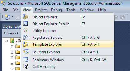 SQL SERVER - Template Browser - A Very Important and Useful Feature of SSMS template11