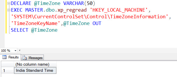 SQL SERVER - Get Current TimeZone Name in SQL Server timezonelist
