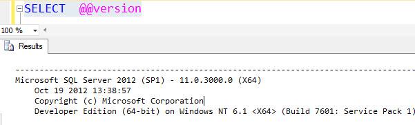 SQL SERVER - A List of Various SQL Server RTM and Service Pack Number version@@