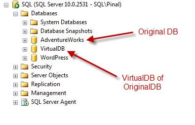SQL SERVER - Retrieve and Explore Database Backup without Restoring Database - Idera virtual database virtualdb1