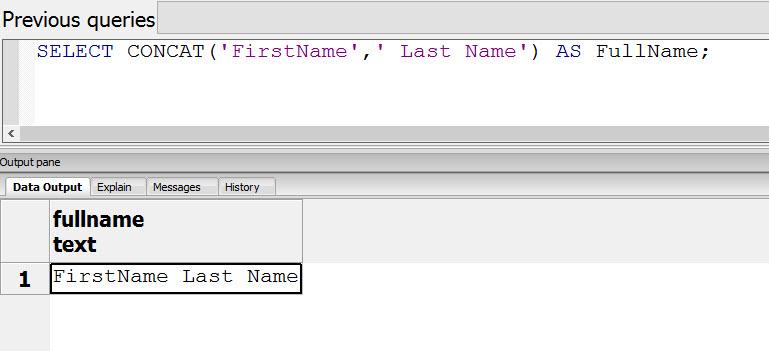 SQL SERVER - MySQL - PostgreSQL - How to Concat Strings? concatpostgres
