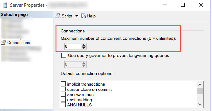 SQL SERVER - FIX: Could not connect because the maximum number of '1' user connections has already been reached max-conn-01