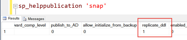 SQL SERVER - Huge Transaction Log in Snapshot Replication! replicate-ddl