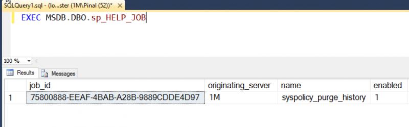 SQL SERVER - Retrieve Information of SQL Server Agent Jobs sp_help_job-800x249