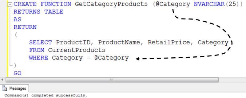 assign value in sql stored procedure