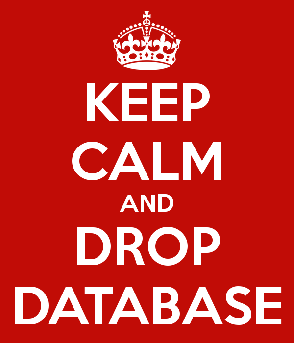 """SQL SERVER – FIX ERROR 3702 Cannot drop database """"MyDBName"""" because itiscurrentlyinuse keep-calm-and-drop-database"""