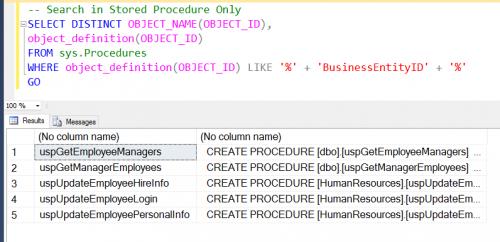 SQL SERVER - Find Column Used in Stored Procedure - Search Stored Procedure for Column Name - Part 2 findsp-500x242