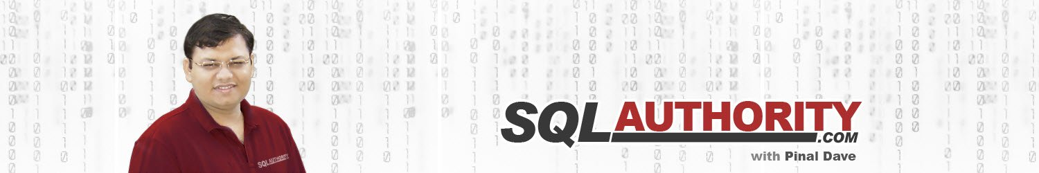 Journey to SQL Authority with Pinal Dave