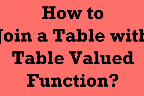 tablevaluedfunctions