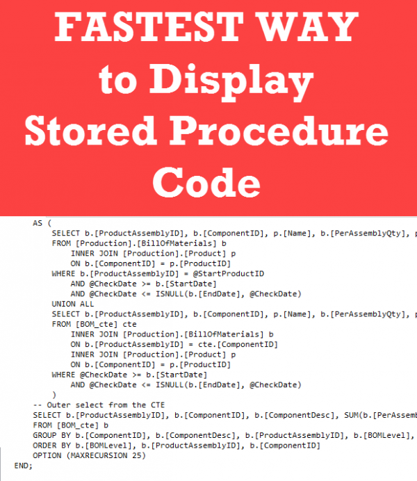how to get all stored procedure script in sql server