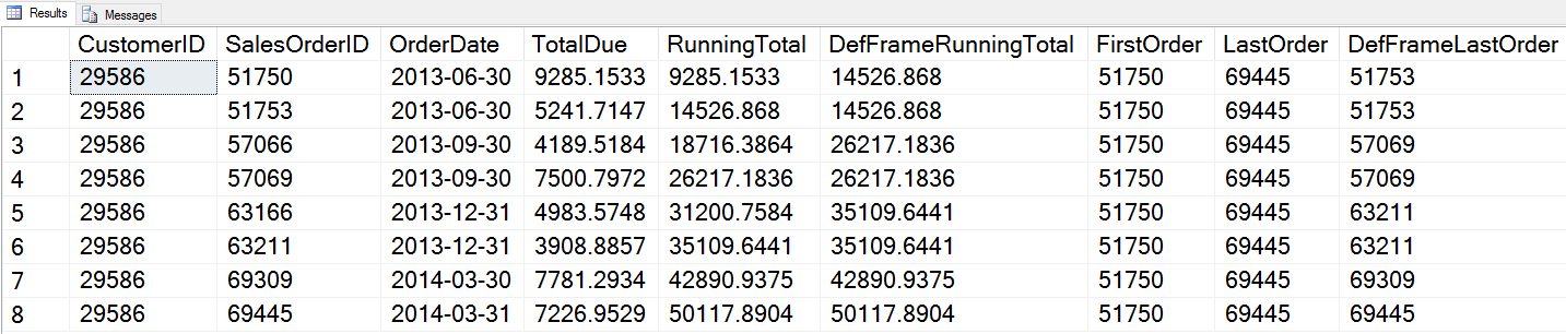 SQL SERVER - What is T-SQL Window Function Framing? - Notes from the Field #102 102-1notes