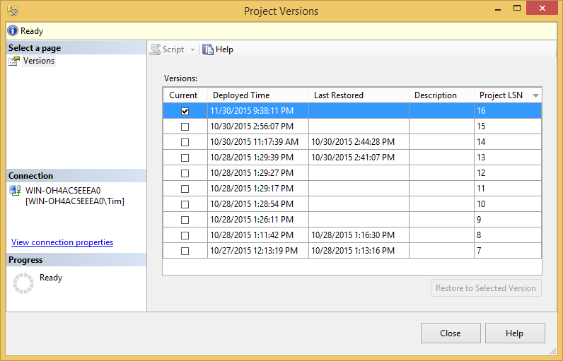 SQL SERVER - Getting Started with Project Versions in the SSIS Catalog - Notes from the Field #106 107-2
