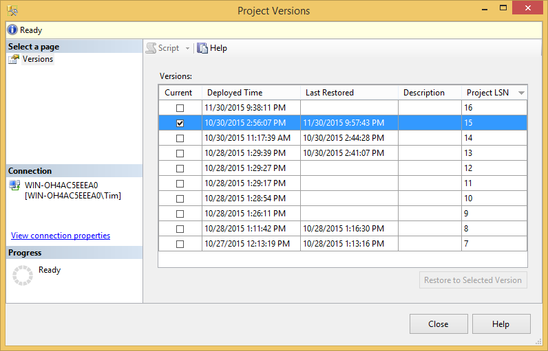 SQL SERVER - Getting Started with Project Versions in the SSIS Catalog - Notes from the Field #106 107-3