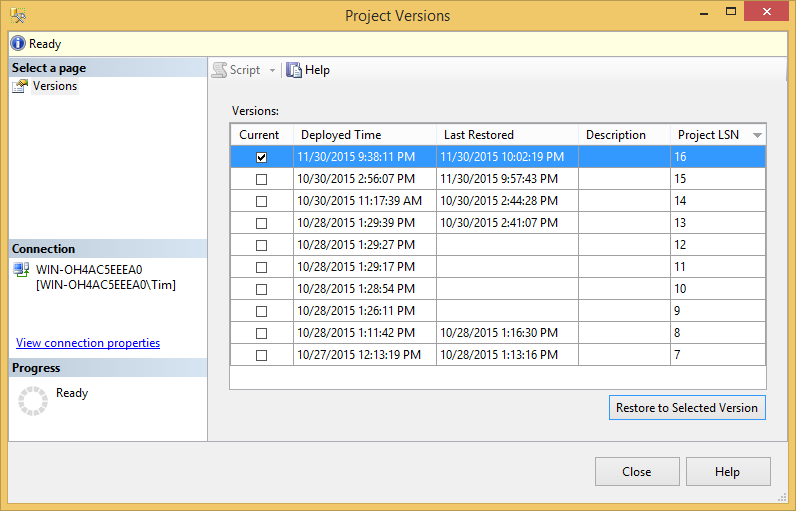 SQL SERVER - Getting Started with Project Versions in the SSIS Catalog - Notes from the Field #106 107-4