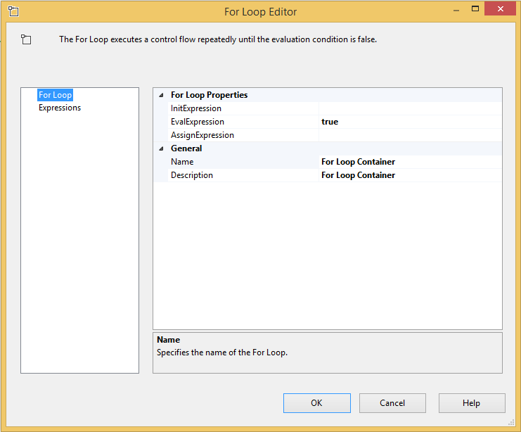 SQL SERVER - SSIS - Get Started with the For Loop Container