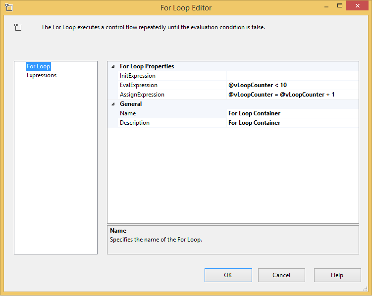 SQL SERVER - SSIS - Get Started with the For Loop Container - Notes from the Field #113 113-2