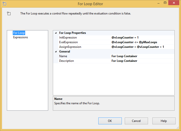 SQL SERVER - SSIS - Get Started with the For Loop Container - Notes from the Field #113 113-3