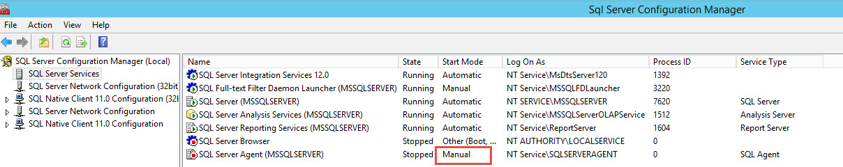SQL SERVER - FIX: SQLServerAgent is not currently running so it cannot be notified of this action. (Microsoft SQL Server, Error: 22022) Agent-Not-Running-03