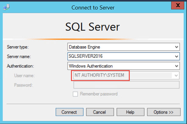 SQL SERVER - How to Connect Using NT AUTHORITY \ SYSTEM Account? NtAuth-02