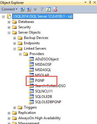 SQL SERVER - How to Create Linked Server to PostgreSQL? PG-Linked-04