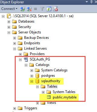 SQL SERVER - How to Create Linked Server to PostgreSQL? PG-Linked-05