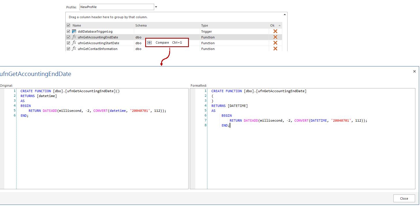 SQL SERVER - Free SQL Server Formatting Add-in image025