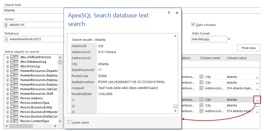 SQL SERVER - Free Database Search and Dependency Analysis 14