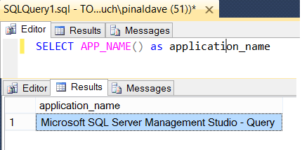 SQL SERVER - Knowing the Source Application Using APP_NAME() Function appnamefun
