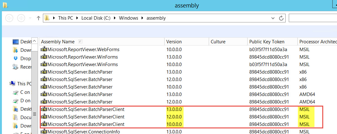 SQL SERVER - System.IO.FileNotFoundException: Could not load file or assembly assembly-01