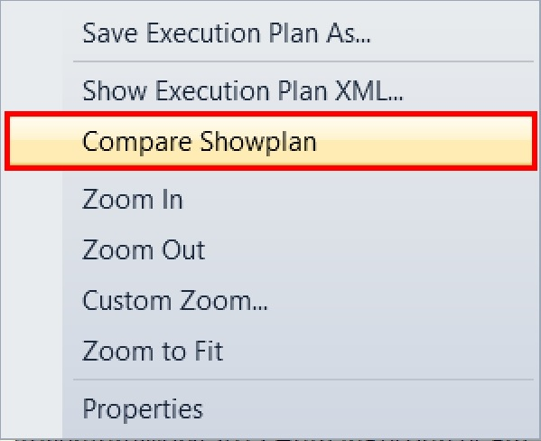 SQL SERVER 2016 - Comparing Execution Plans compare-plan-00