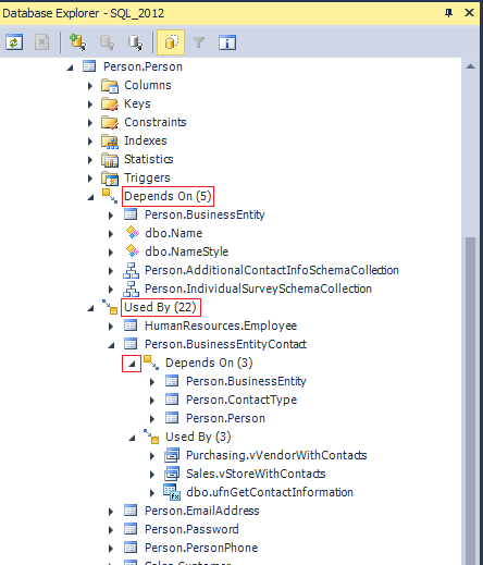 SQL SERVER - View Dependencies on SQL Server: Hard & Soft Way devartview-2