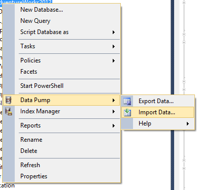 SQL SERVER - Easy Way to Import and Export SQL Server Data easytable-07