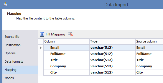 SQL SERVER - Easy Way to Import and Export SQL Server Data easytable-11