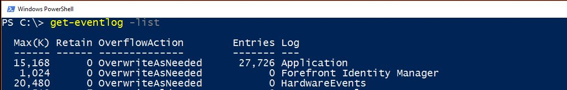 SQL SERVER - Working with Event Viewer and PowerShell eventvwr-powershell-01