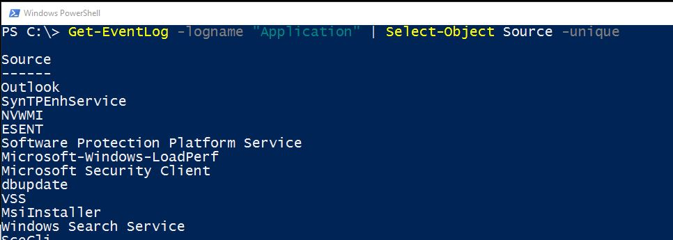 SQL SERVER - Working with Event Viewer and PowerShell eventvwr-powershell-02