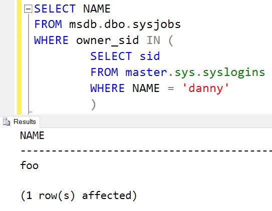 SQL SERVER - Unable to drop login - Msg 15170, Level 16, State 1 job-owner-03