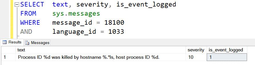SQL SERVER - Process ID X was killed by hostname ABC, host process ID Y kill-01
